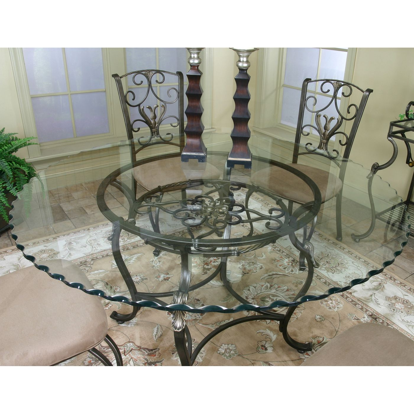 glass kitchen tables and chairs best flooring for a cramco j9811 4 wescot round top dining table