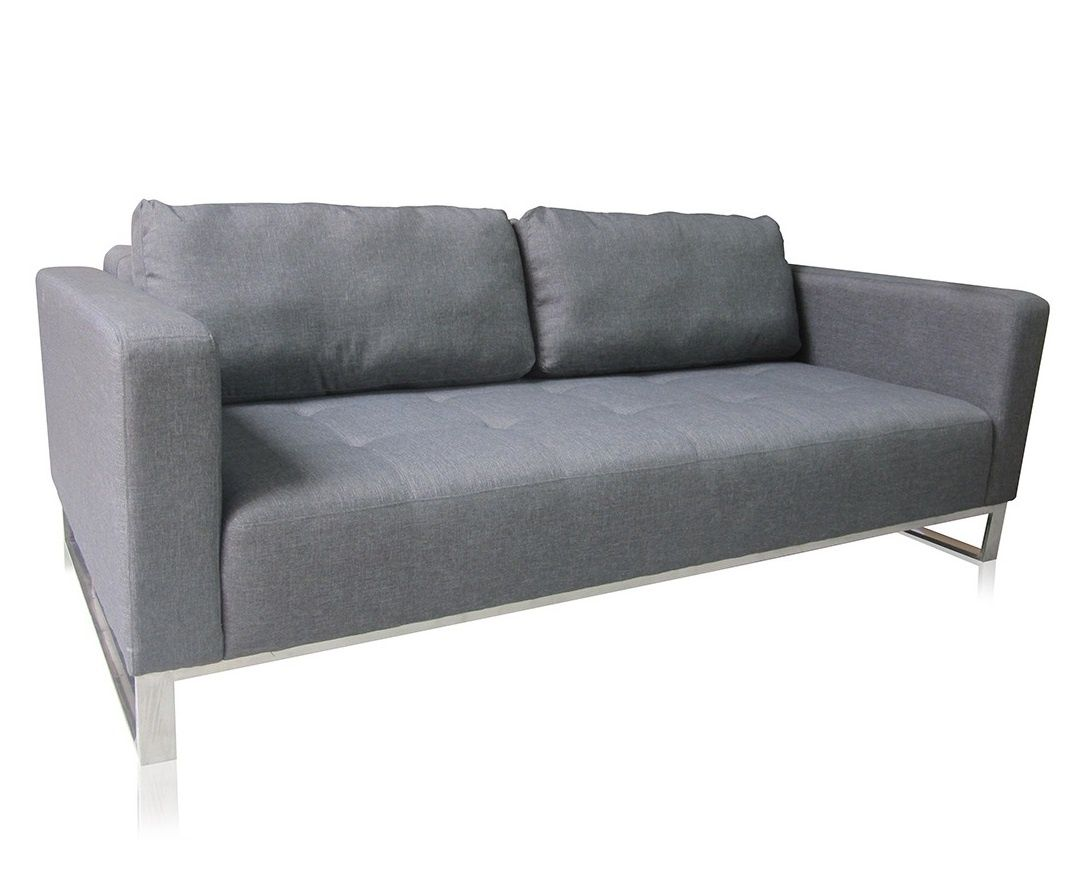 contemporary grey sofa bed and seats nelson modern gray baci living room