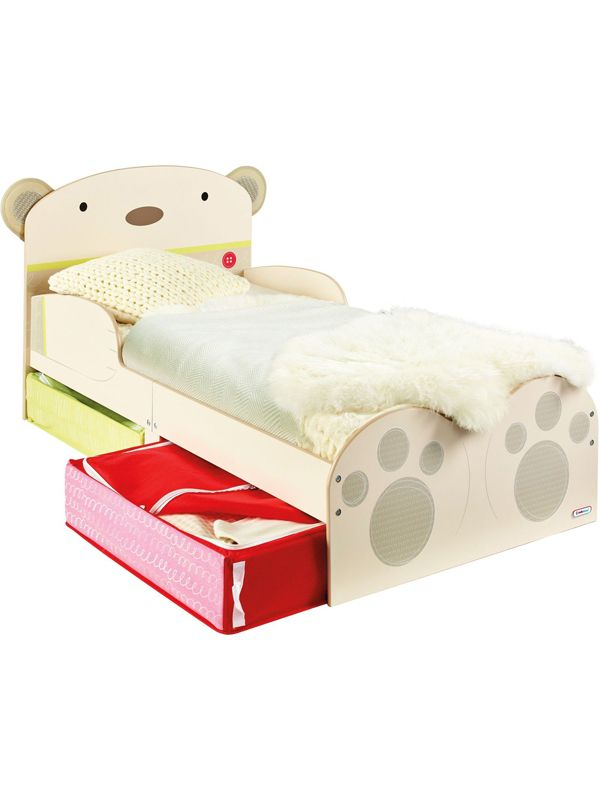 Adorable Bear Hug Snuggletime Toddler Bed With 7 6cm Foam Mattress Free Uk Delivery Available