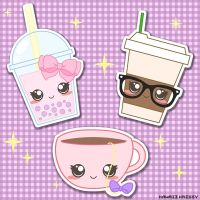 The product Kawaii Bubble Tea, Cute Chic Coffee, and Cute