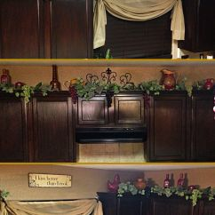 Grape Decor For Kitchen Dark Walnut Cabinets On Top Grapes Vines And