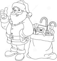 santa claus coloring pages 01 | Coloring Pages for Kids ...