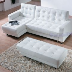 Modern Line Furniture Sofa Sleepers Barcelona Convertible Futon Bed And Lounger With Pillows Multiple Colors White Leather Contemporary Sectional Sleeper An