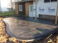 Rochester ny stamped concrete patio with a stained border ...