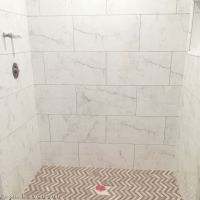 Calcutta marble look tiles | Bathrooms! | Pinterest ...