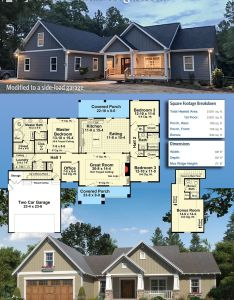 Our client built house plan mm with  side load garage in north carolina also craftsman nested gable front build bonus rh pinterest