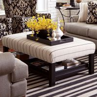 Accent Ottomans Storage Bench Ottoman with Tray Storage by ...