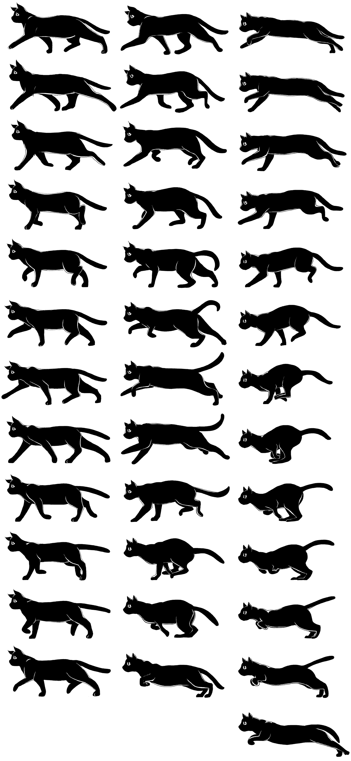 Cat Walk Cycle Cat Sprite