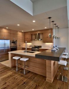 elegant contemporary kitchen ideas modern house interior also luxury kitchens rh pinterest