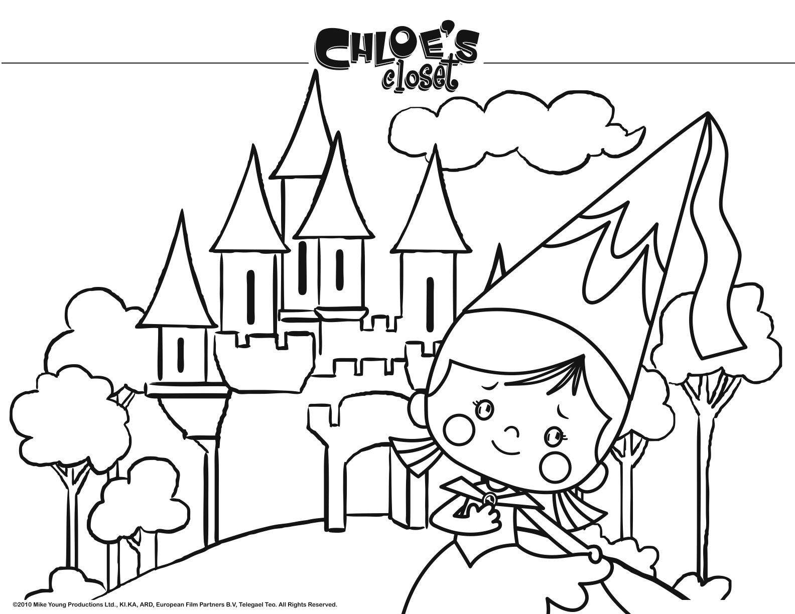Coloring Pages Chloes Closet