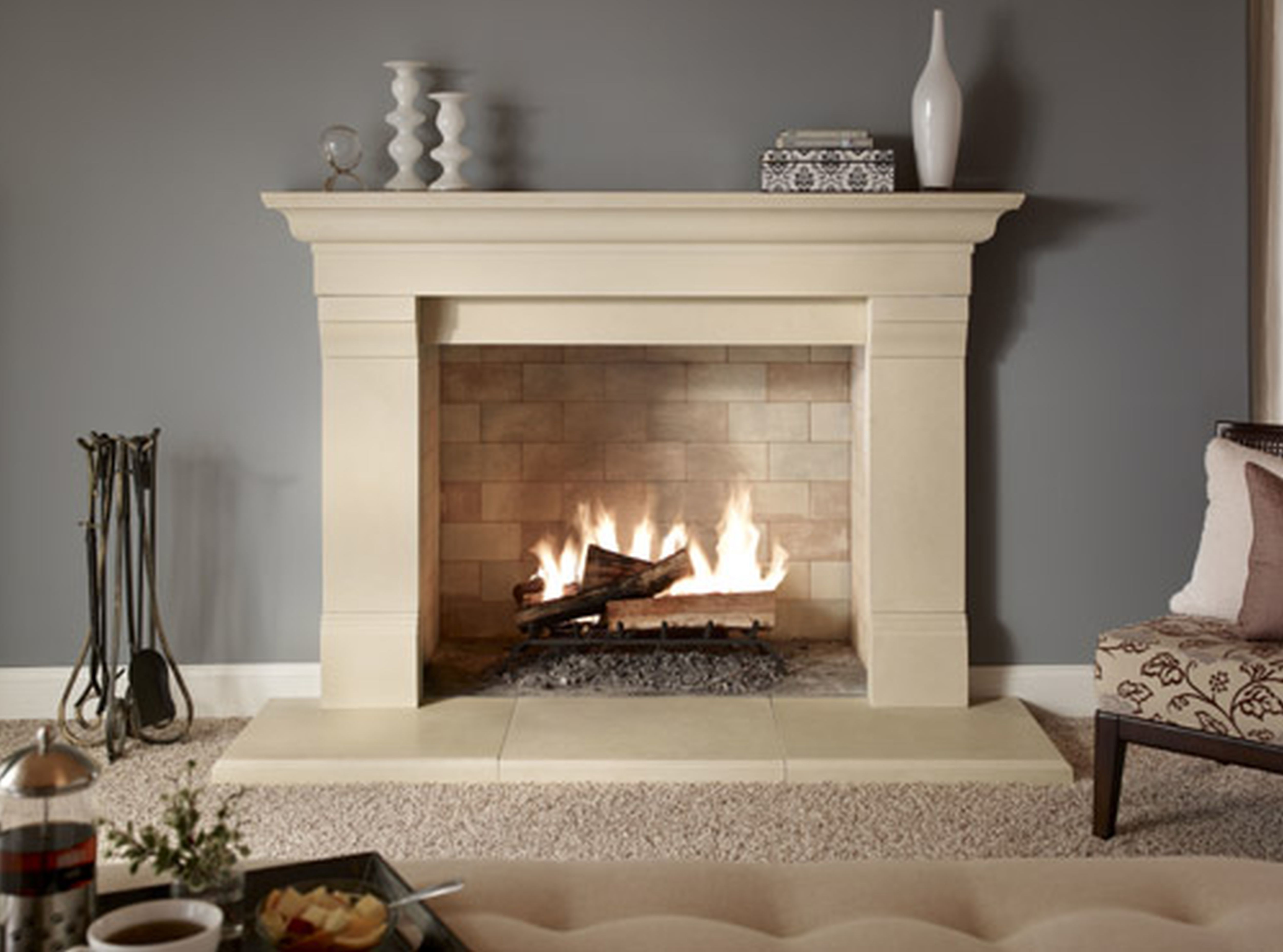 Delectable Stone Fireplace Surrounds Artistry Licious