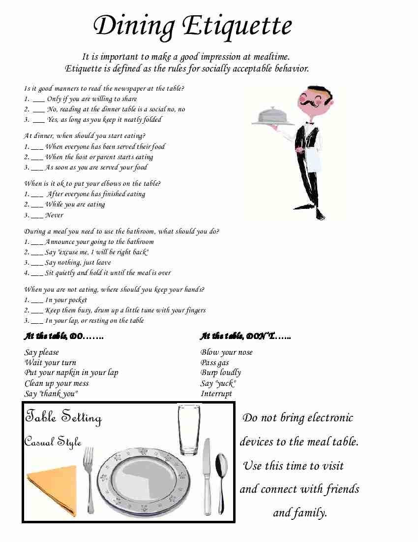 Empowered By M D G Etiquette L E Skills P Terest