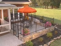 front yard patio landscaping pictures with wrought iron ...