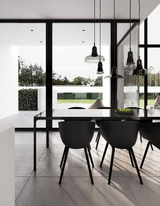 This clean interior design of  detached house in warsaw by tamizo architects depicts also rh pinterest