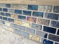 Day 64: Glass Tile  Part 2 (Grout) grouting glass tile ...