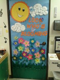 Spring door, kids faces on the flowers | Classroom ...