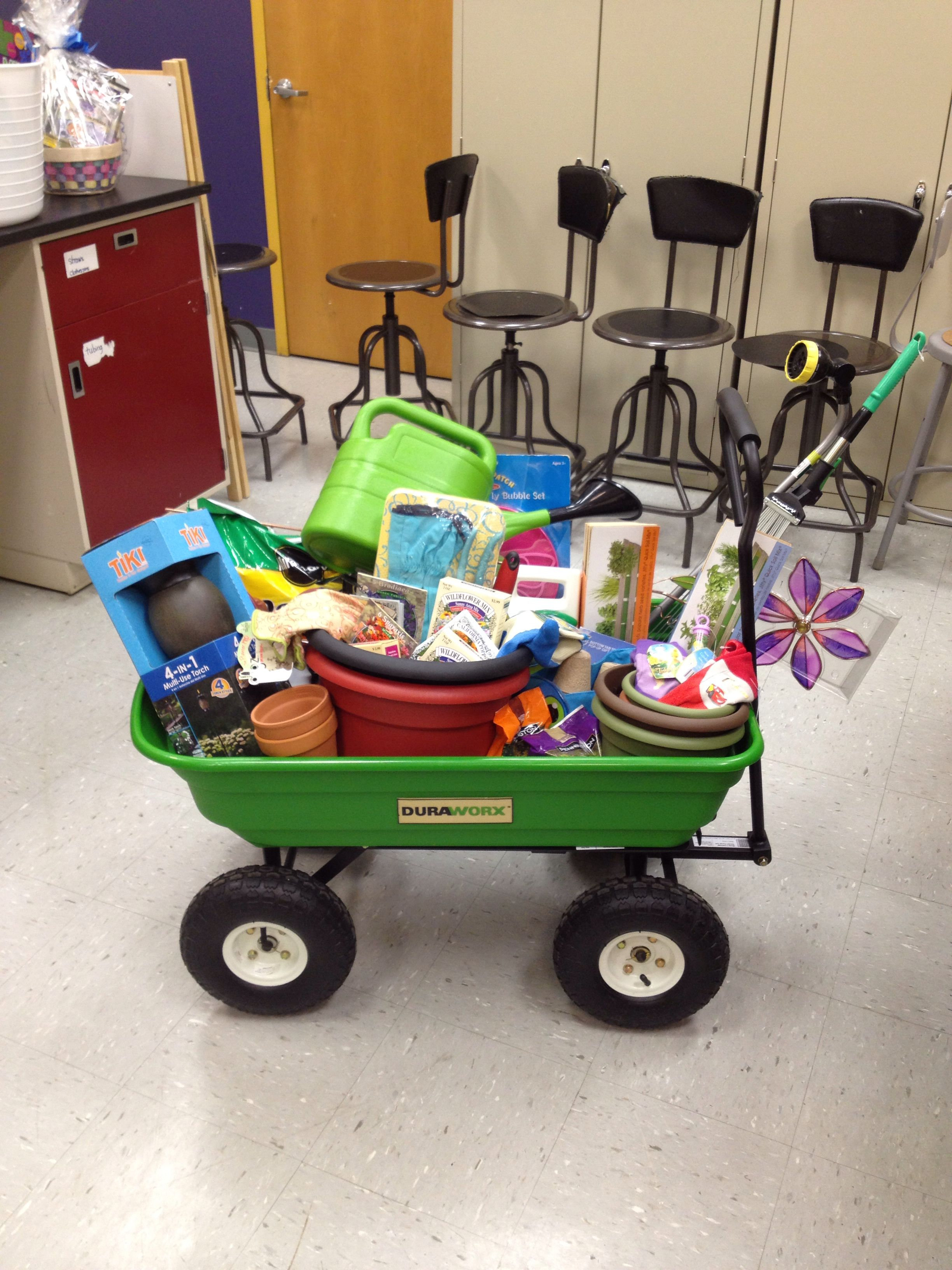 School Raffle Basket Garden Theme School Pinterest Gardens