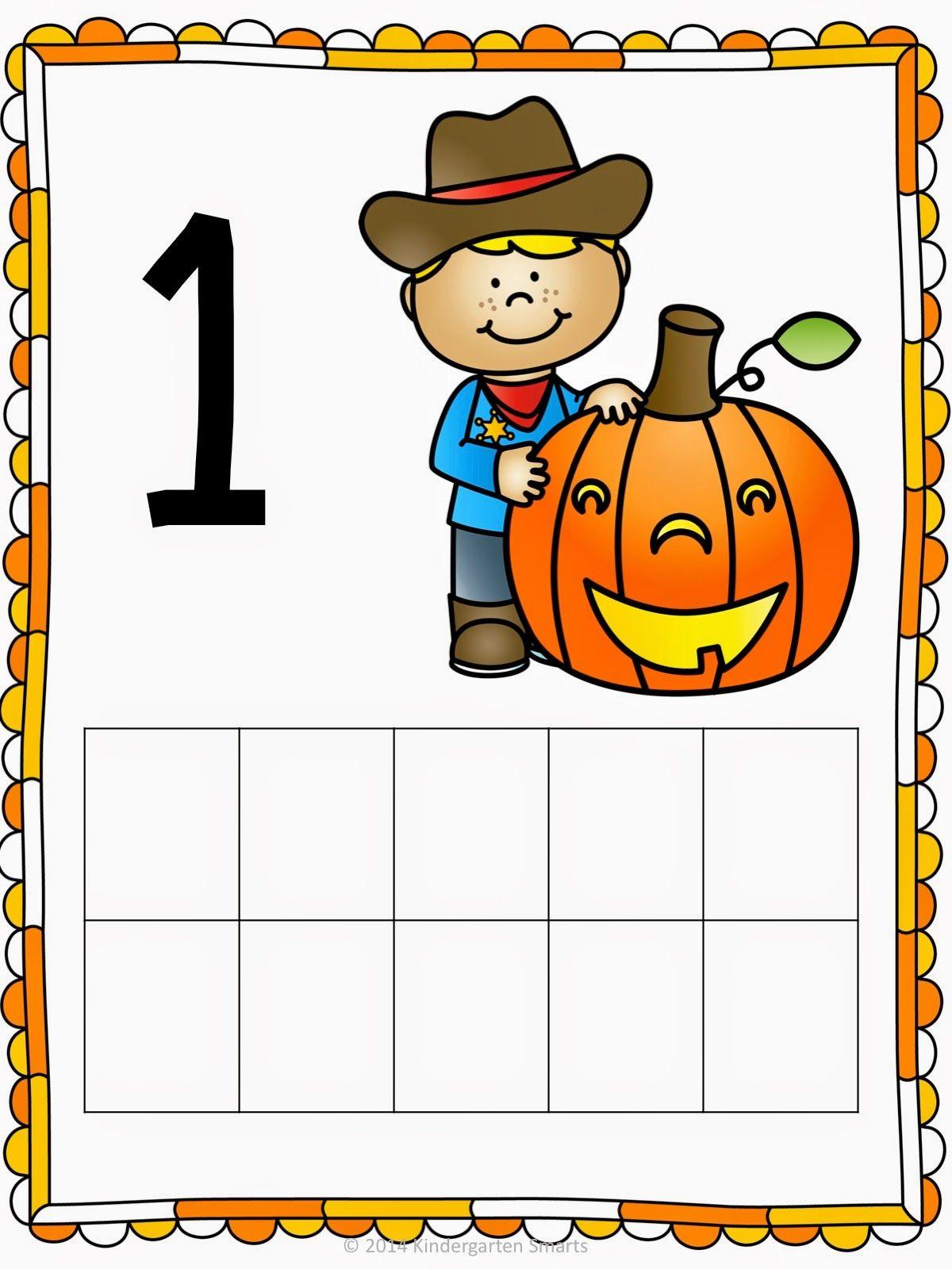 Halloween 10 Frame Math Center Freebie