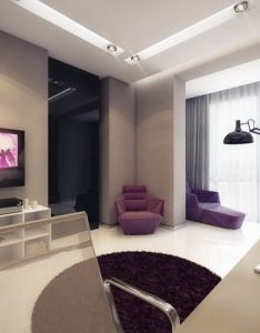 Purple white home office favorite places  spaces pinterest interiors designs and teenager rooms also rh