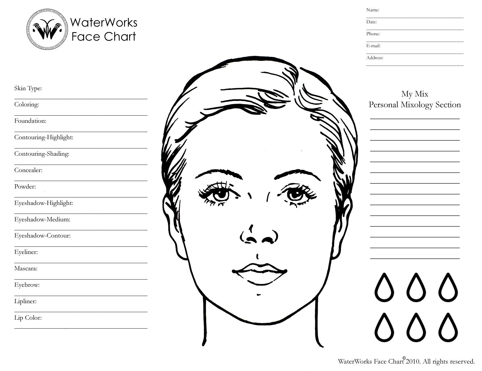 Blank Makeup Face Chart Download Mac Wallpaper Download Blank Face Makeup