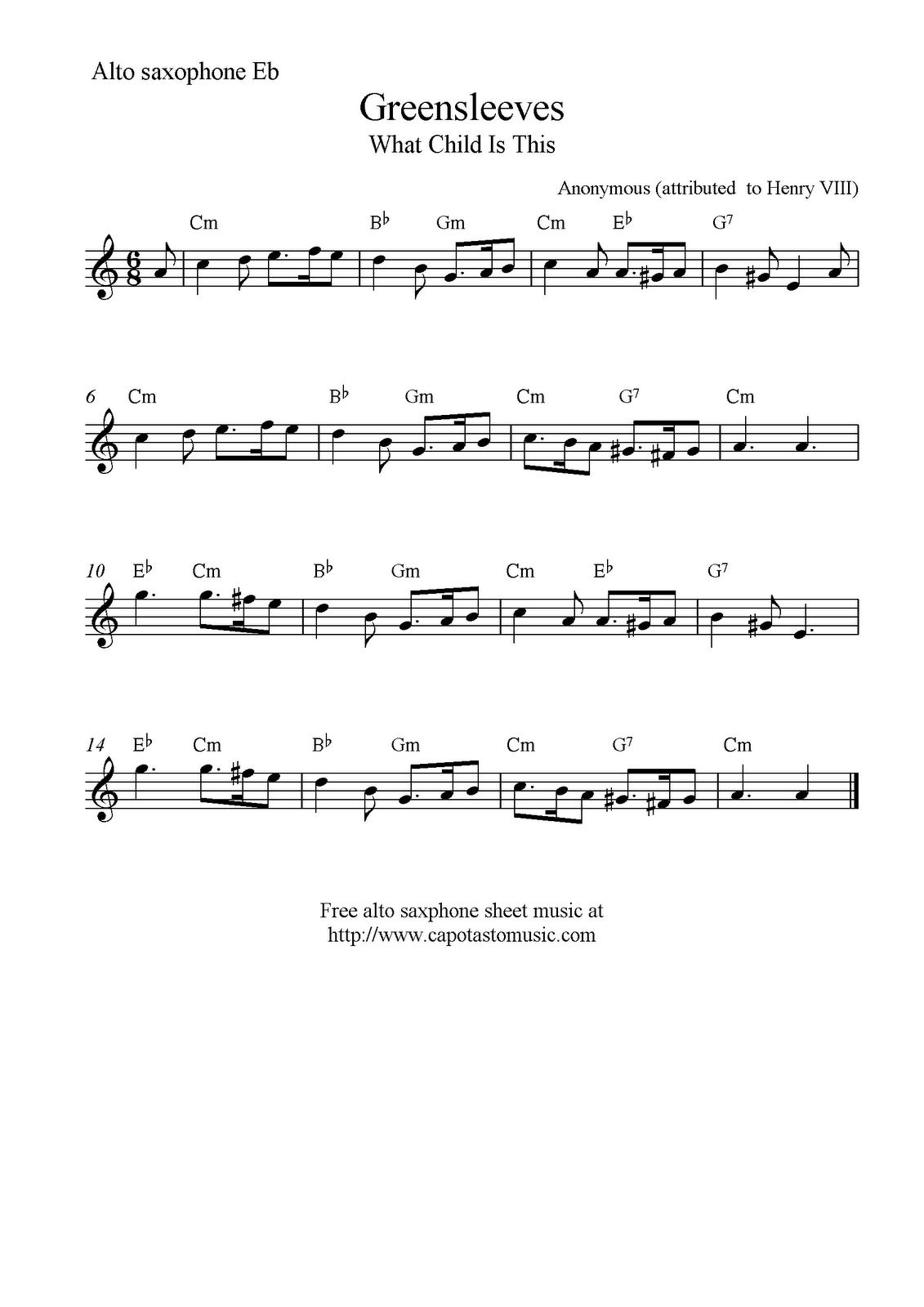 Free Tenor Sax Jazz Christmas Sheet Music