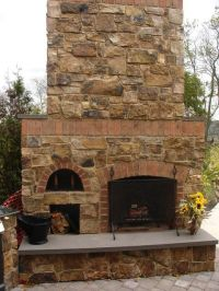 plans for a brick outdoor fireplace with pizza oven ...
