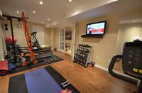finished basement steam room | Finished Basement Home Gyms ...