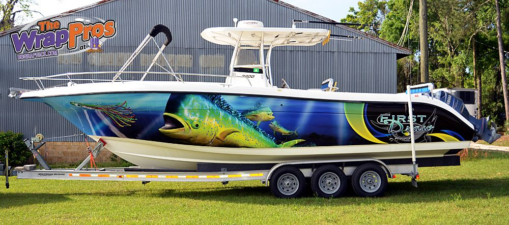 Fish Boat  The WrapPros  BB Graphics  bbgraphicscom  bbgraphics 3MCertified thewrappros