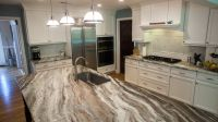 Fantasy Brown Quartzite Modern Kitchen | Kitchen ...