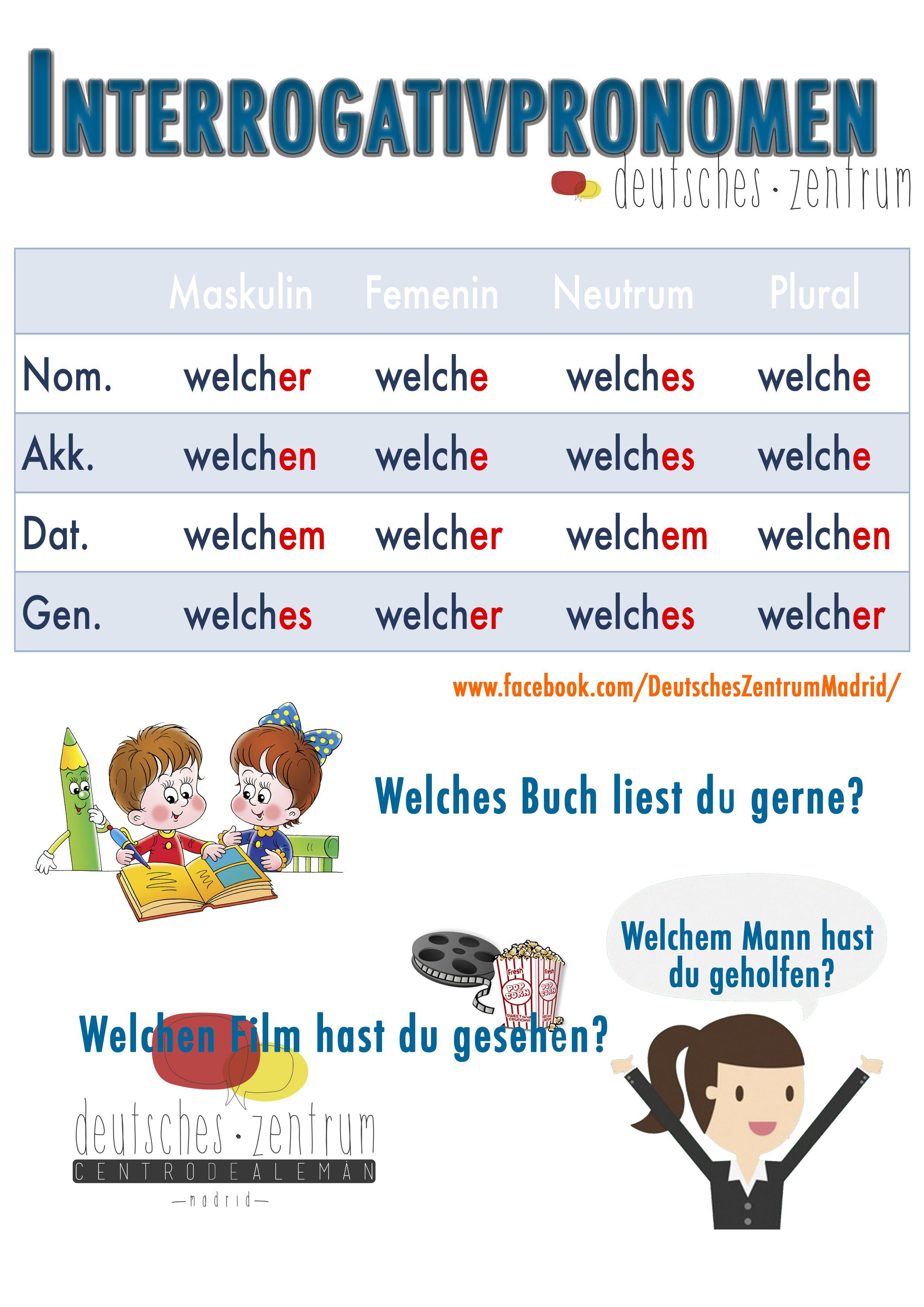 Welche Deutsch Wortschatz Grammatik Aleman German Daf