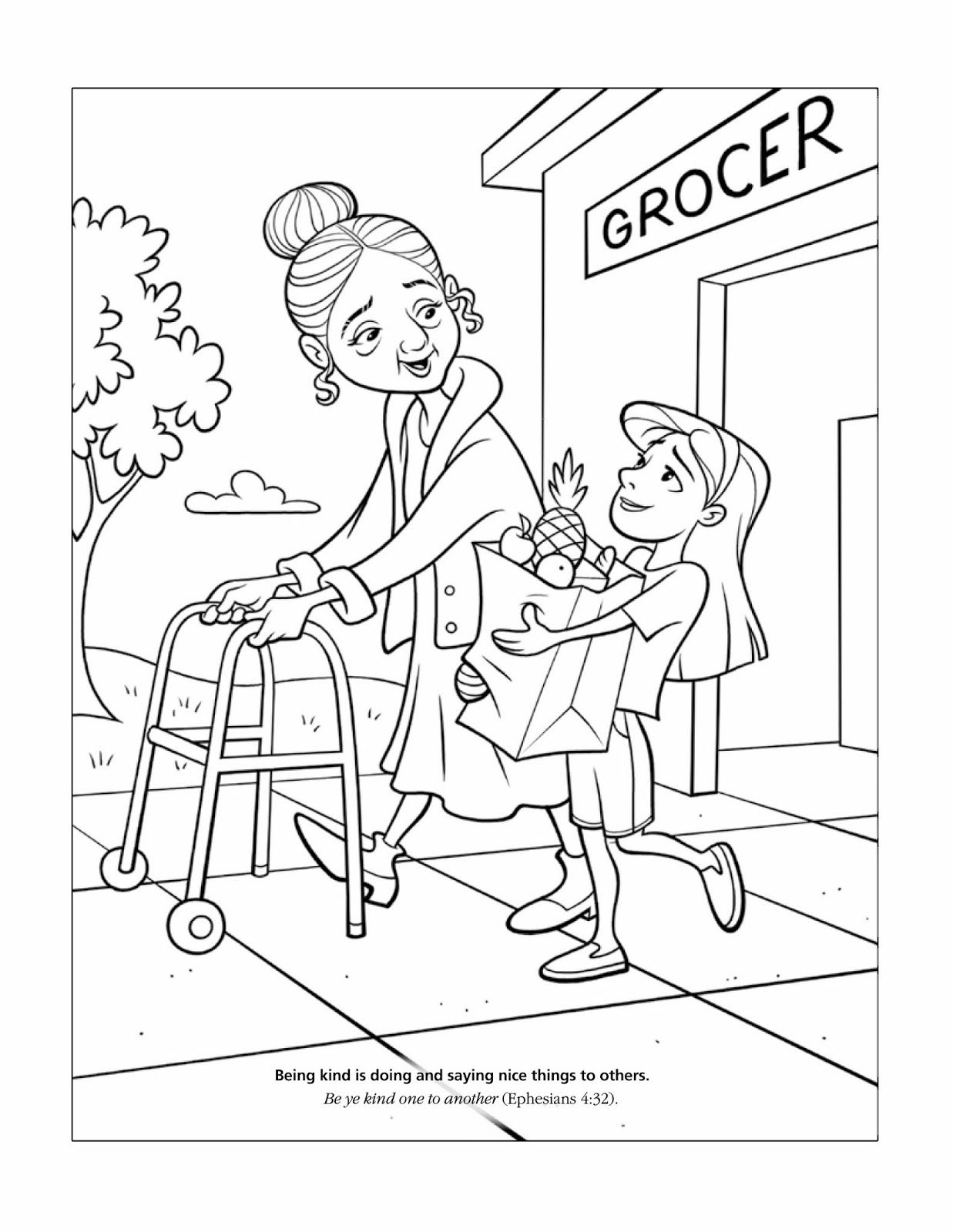 EPHESIANS 4:32 LDS Teaching Visuals: Coloring Pages