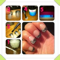 DIY artificial nail design :)