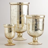 Mercury Glass Pillar Holders bronze or gold | Champagne ...