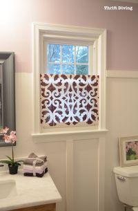 Lovely Bathroom Window Treatment Ideas