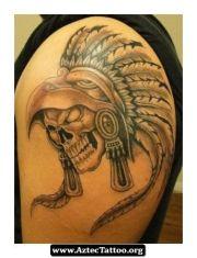 aztec skull tattoos