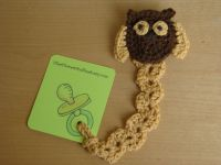 Owl Pacifier Clip, Animal Pacifier Leash, Owl Crochet ...