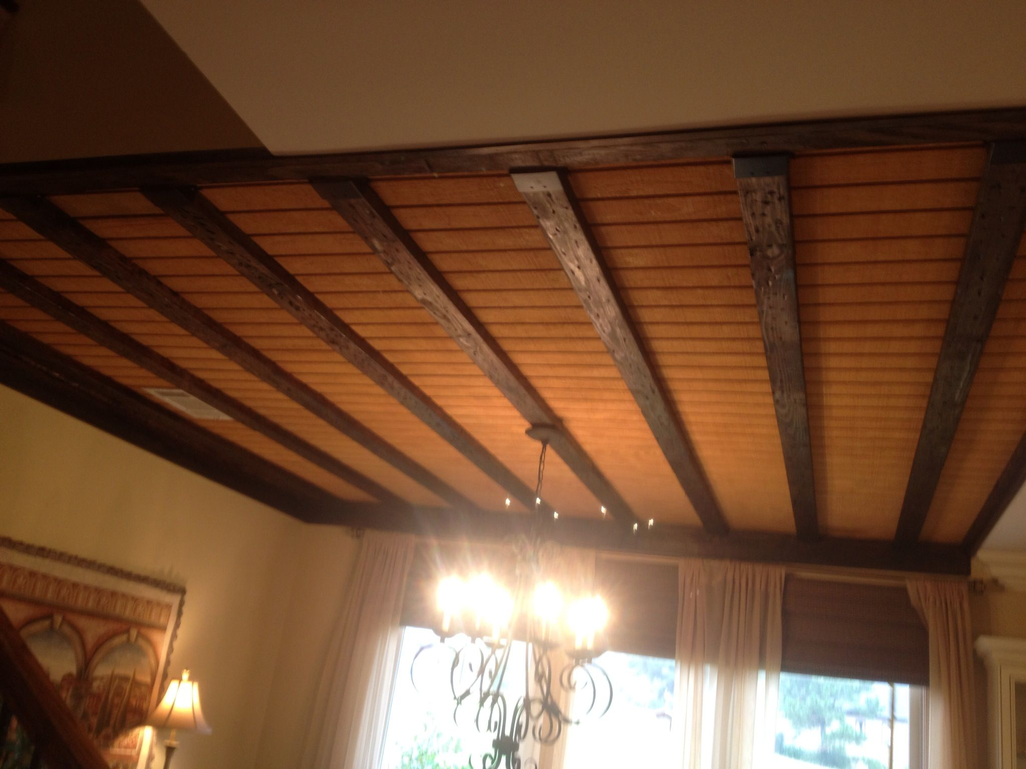 Exposed floor joists with t1