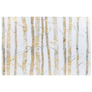 Cream Amp Gold Birch Trees Canvas Wall Decor Tree Canvas