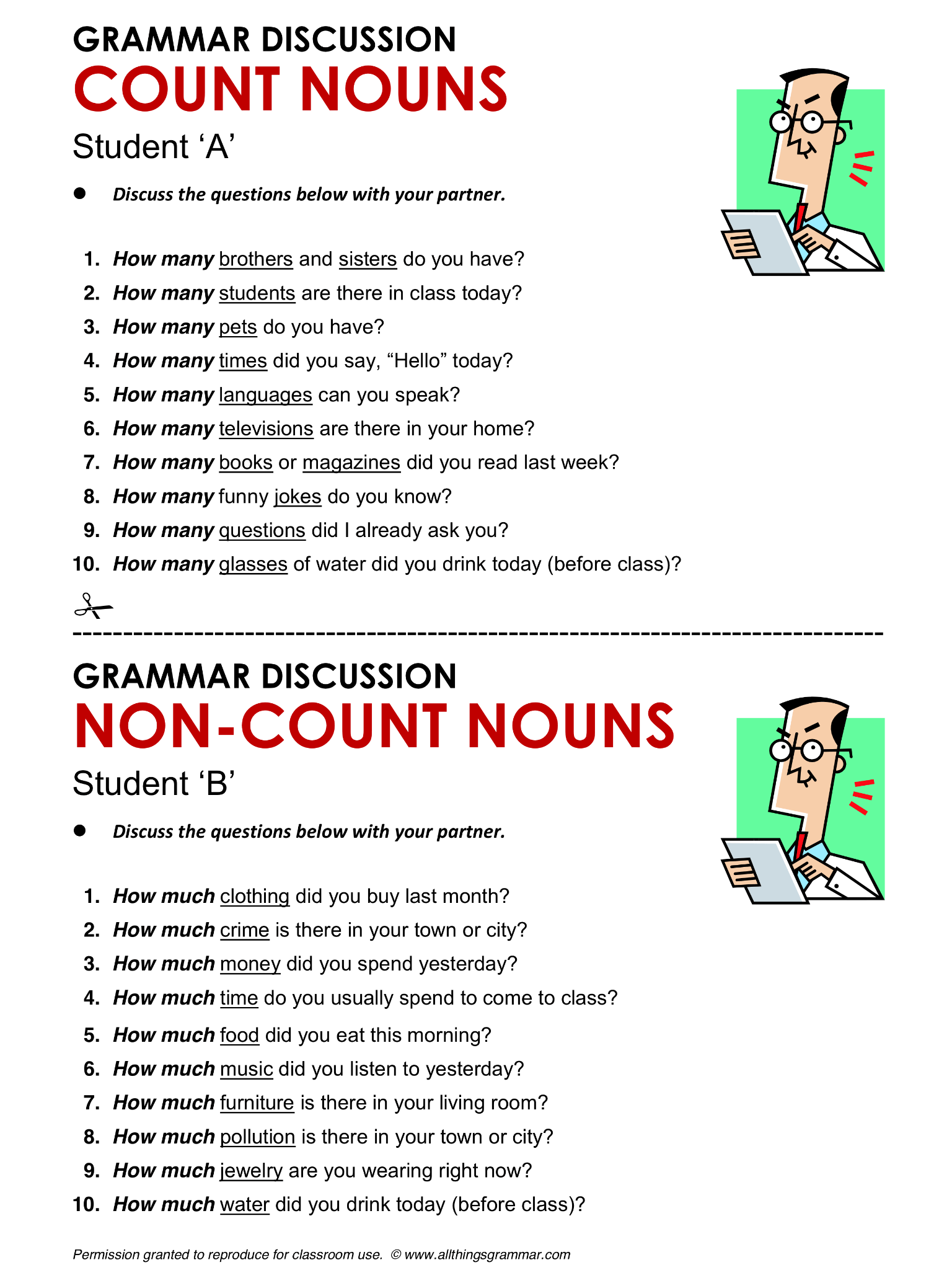 English Grammar Count And Non Count Nouns Lthingsgrammar Count Non Count Nouns