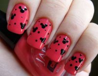 Minnie+Mouse+Acrylic+Nail+Designs