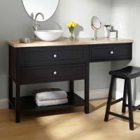 Bathroom Makeup Vanity and Chair   ... Sink Vanities / 60 ...