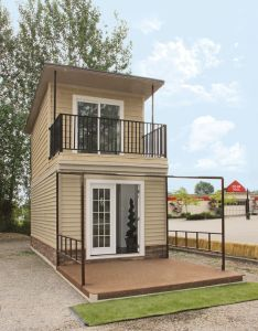 The eagle  sq steel framed micro home an easy stacked container conex conversion it   two story tiny house built on also best images about art pinterest bottle coat of arms and rh in