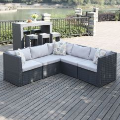 Outdoor Sofa Furniture Steve Silver Co Silverado The Portfolio Aldrich 5 Piece Sectional Features 3 Corner