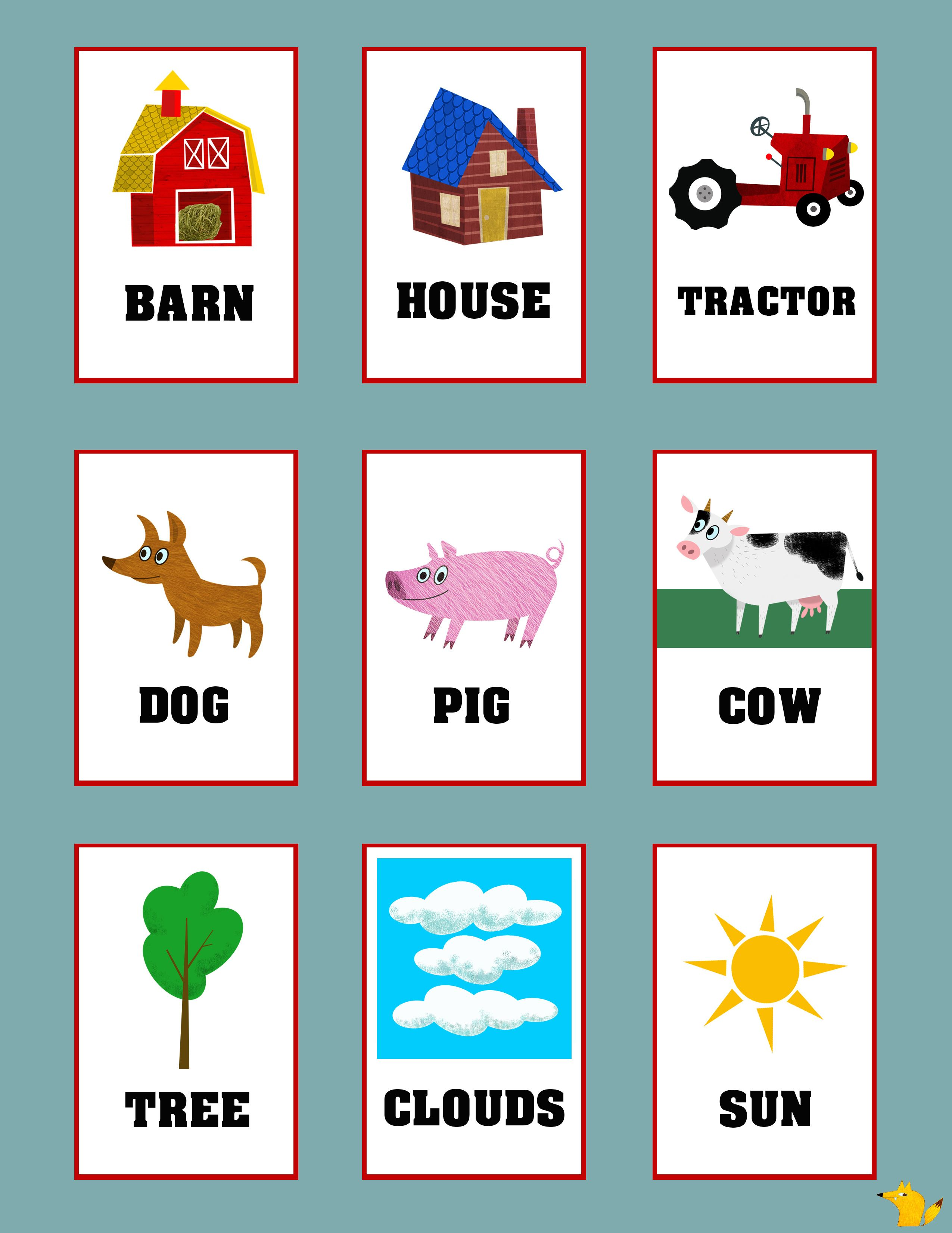 Flashcards For Toddlers To Teach Simple Words Flashcards