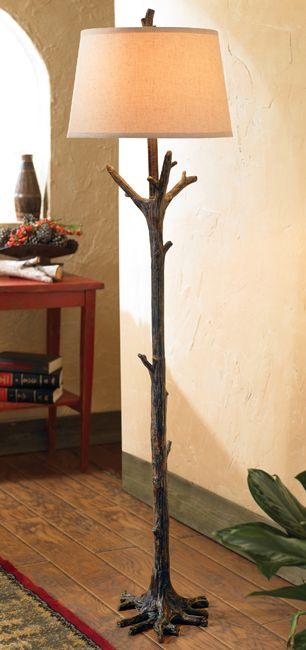 Black Forest Decor Tree Branch Floor Lamp OVERSTOCK Black