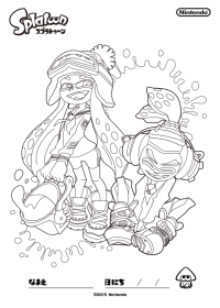 The Art Of Splatoon Nintendo Coloring Pages For All