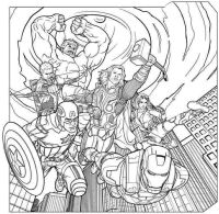 Avengers Flying Coloring Pages Printable | Sam | Pinterest