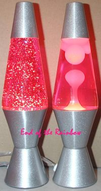 Lava Brand 8oz Two Pack of Pink Glitter Lamp and Pink ...