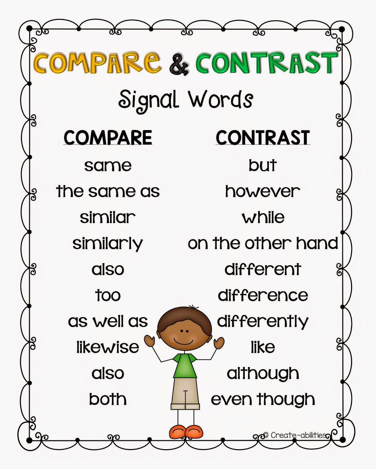 Worksheet Compare And Contrast Worksheets 5th Grade
