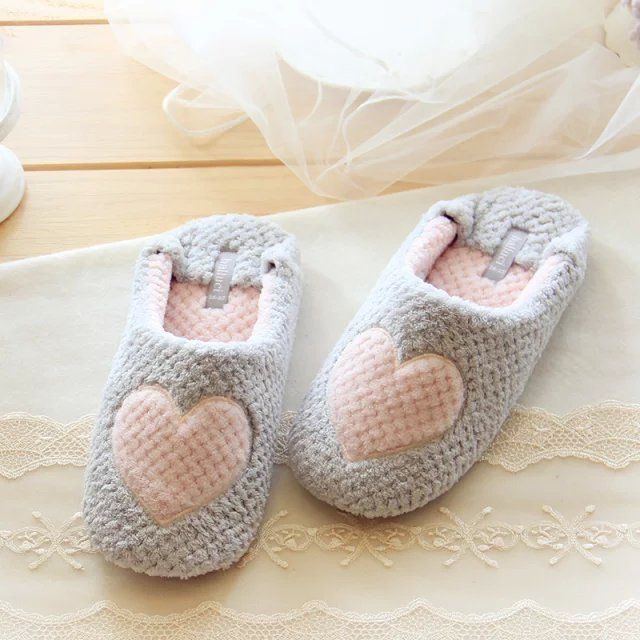 women home slippers warm winter cute indoor house shoes bedroom